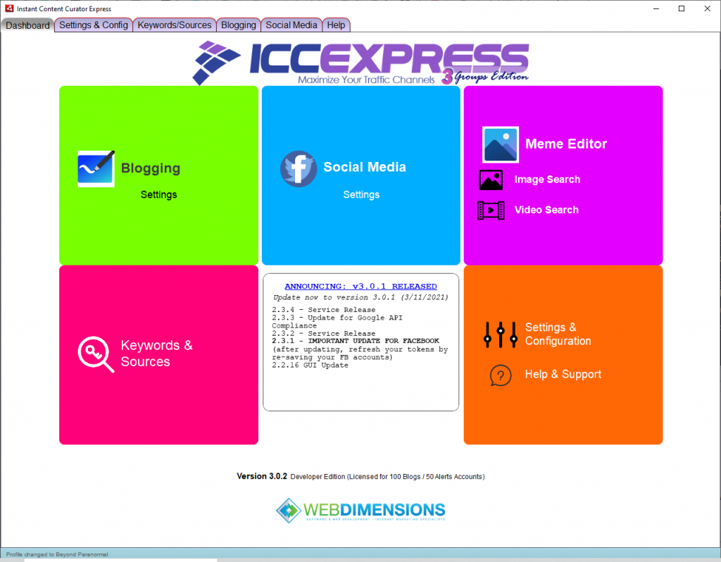 ICC Express 3.0 Groups Edition